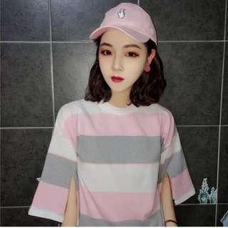 粉色鴨舌帽