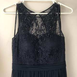 Forever New Ellie Navy Beaded Maxi Dress