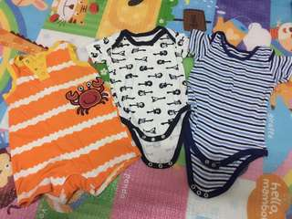 Combo rompers + jumper 0-up 6month