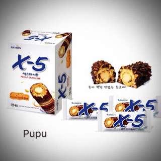 🚚 韓國X-5巧克力棒 現貨