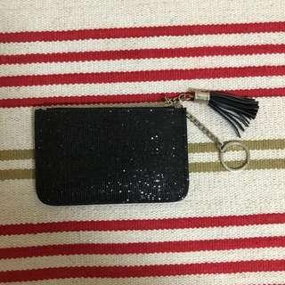 Glittery Black Coin Purse
