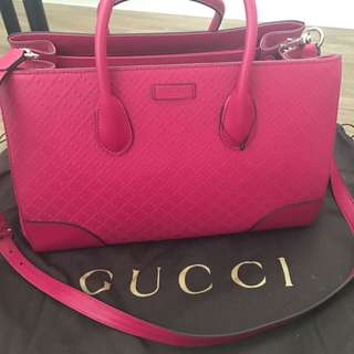 New pink diamante leather Gucci bag
