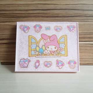 my melody uv  resin shimmer shine pink lid with box