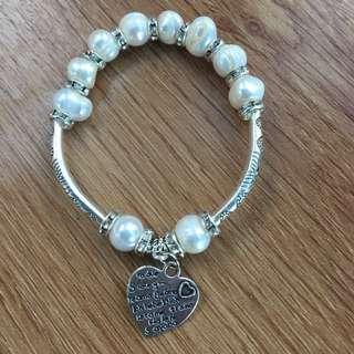 Pandora inspired Pearl Bracelet