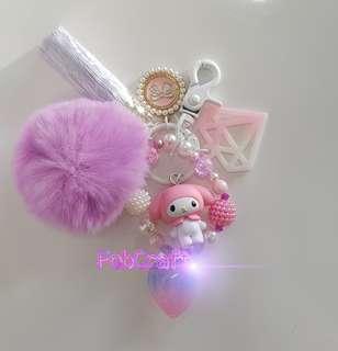Sanrio My Melody Figurine Fob Charm