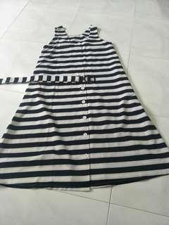 Stripe Dress ( Black and white)