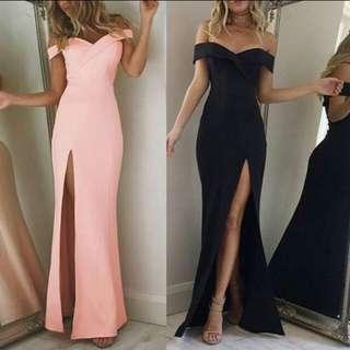 [PO] Off Shoulder Maxi Dress