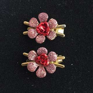 Japan Gold flower Clips