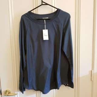 Citta long sleeve navy top - XL