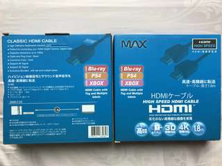 HDMI Blu-Ray PS4 Xbox cable 電線兩盒
