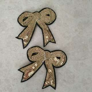 Sew on patch - Gold Sequin Ribbon