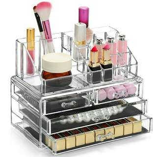 *FREE DELIVERY to WM only / Ready stock* 4drawers Makeup cosmetics organiser as shown design/color. Free delivery is applied for this item. NP RM60