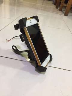 Handphone Holder with USB Charger