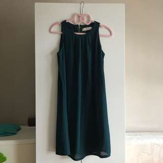 Dark Green Dress- For work, casual or maternity