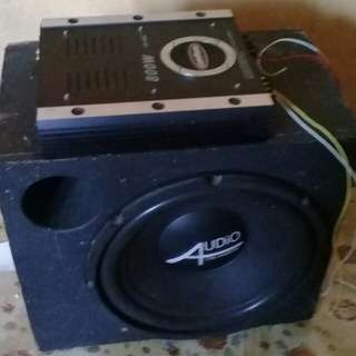 Power amp& subwoofer