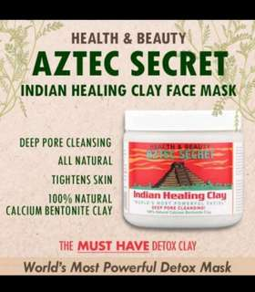Aztec Indian secret healing face clay mask