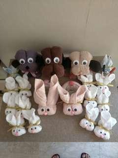 Bunny handmade towel