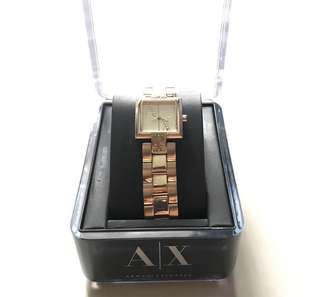 Armani Exchange ladies watch - gold