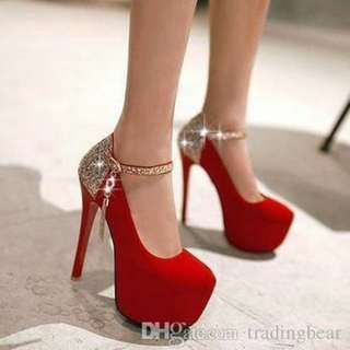 HIGH HEELS RED CHERYL MURAH BEST SELLER
