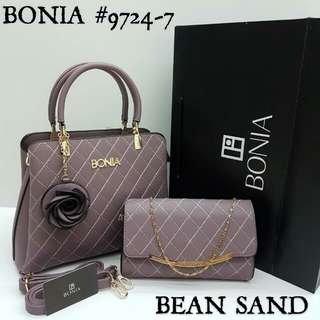 Bonia 2 in 1 Bag Bean Sand Color