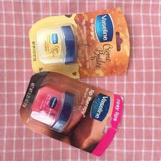 "Mini Vaseline ""Creme Brulee & lip therapy rosy lip"""