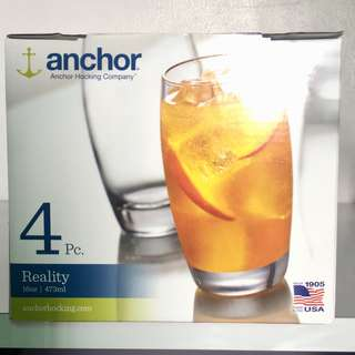 Reduced Price!! Anchor 4pc. Drinking Glass