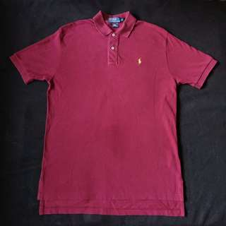 Authentic Ralph Lauren Regular Fit Maroon Polo Shirt