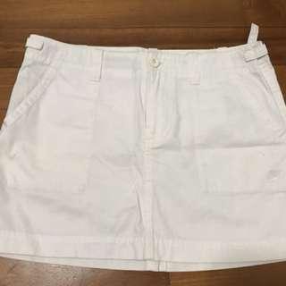 Nike white sports skirt