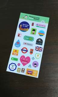 Korean Penguin Love Travel Stickers