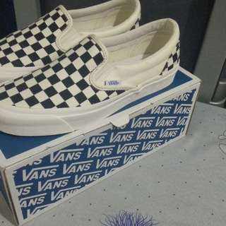 Slip On Vans CheckerBoard OG Black White Original