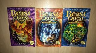 Beast Quest storybooks (3 books)