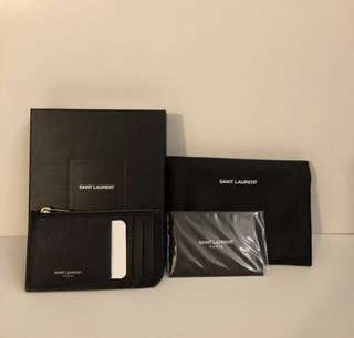 全新銀字 Saint Laurent Cardholder coins purse