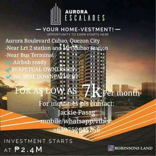 Affordable and Quality Condominium in Aurora Blvd Cubao for as low as 7k per month No DP