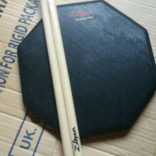 Pad drum 10 inchi bonus stik