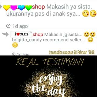 Real Testimony & Real Our Service - Thanks For Shopping