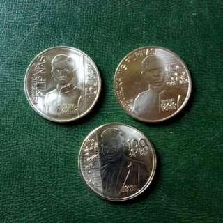 2016 1P Commemorative Coins,Ricarte,Torres,Dela Cuesta