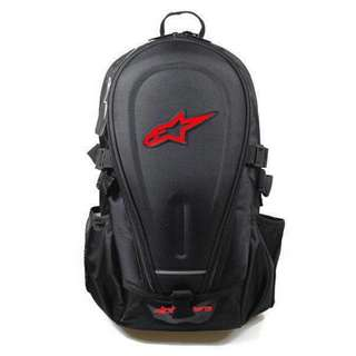 Alpinestar multiple riding helmet carrier backpack with raincoat