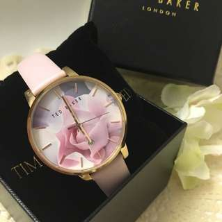 Ted Baker 女裝腕錶 粉紅印花 極新