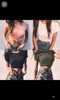 Joey knotted crop tee