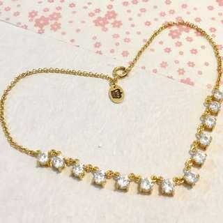 Juicy Couture 金色多石頸鍊 Necklace