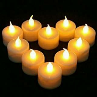 INSTOCK LED WARM YELLOW CANDLES LIGHT