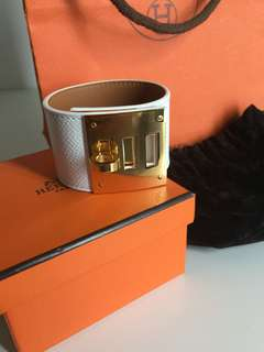 Hermes kelly dog cuff bracelet