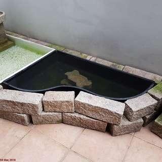 Black Fibreglass wavy pond