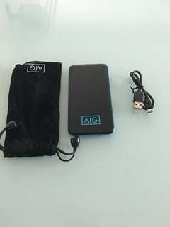 AIG portable charger w built in cable
