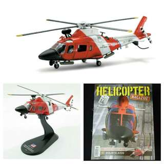 Military aircraft helicopter for souvenir or hobby or education: Agusta A109 Stingray