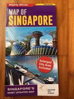 Laminated Map Of Singapore