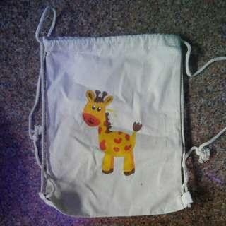 Handpainted Drawstring Canvas Bag