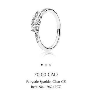 PANDORA Fairytale Sparkle Ring SIZE 48