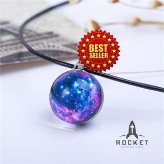 Purple Galaxy Crystal Ball Necklace (Available Now)