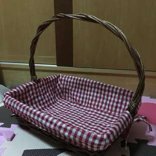 Rattan Basket with clothes